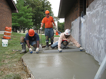 Laborers - AGC Training Center High Hill cement laying